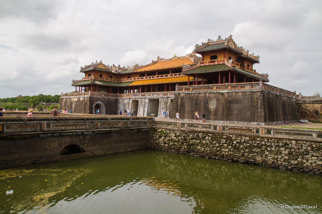 Entrance to the Imperial City in Hue, Vietnam