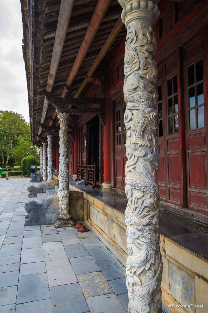 Building in the Imperial City in Hue, Vietnam