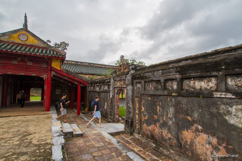 Wall in the Imperial City in Hue, Vietnam