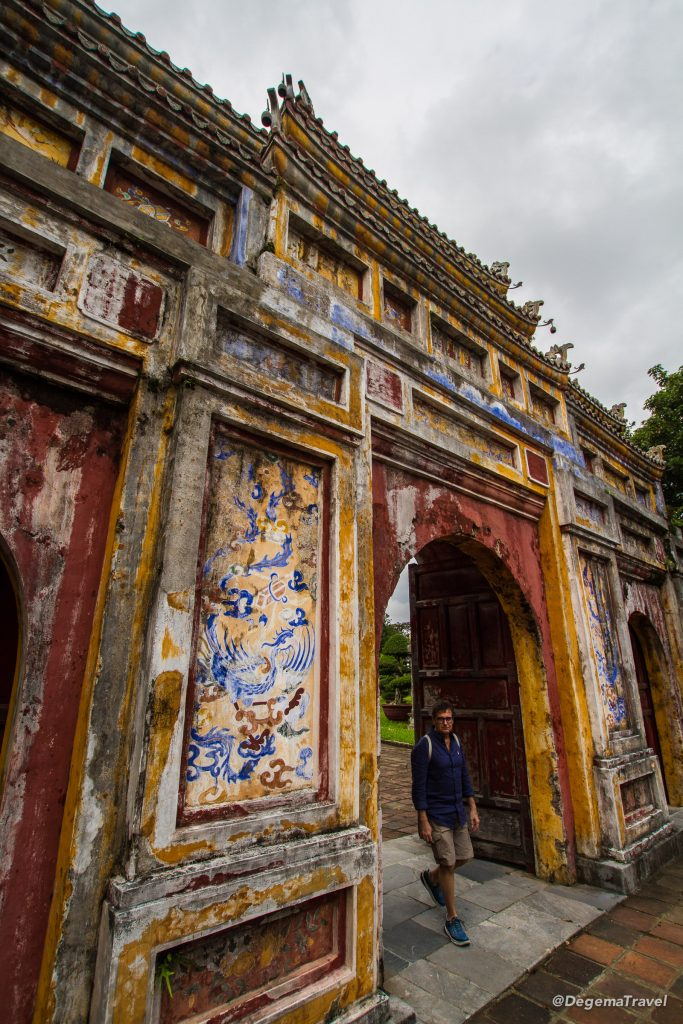 Doorway in the Imperial City in Hue, Vietnam