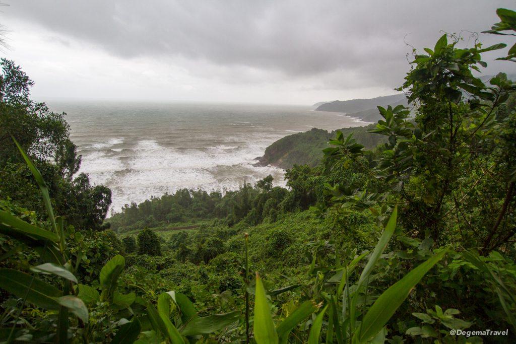 The coastline along the Hải Vân Pass between Huế and Da Nang, Vietnam