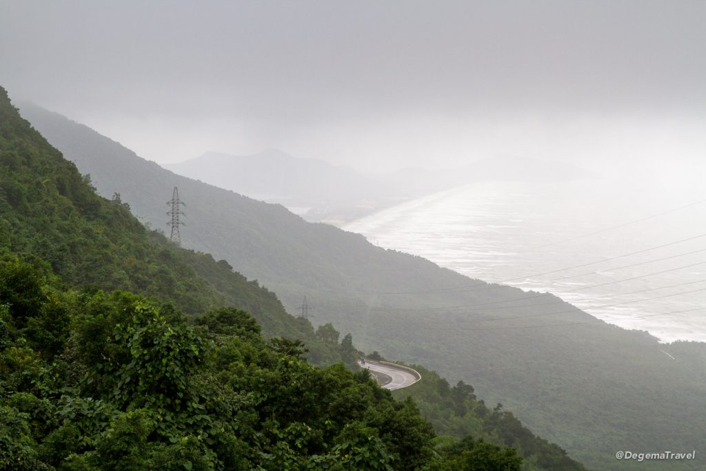 The Hải Vân Pass between Huế and Da Nang, Vietnam