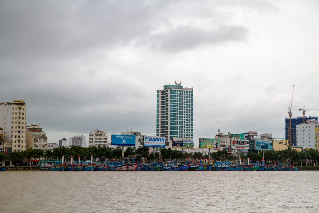 The Hàn River waterfront in Da Nang, Vietnam