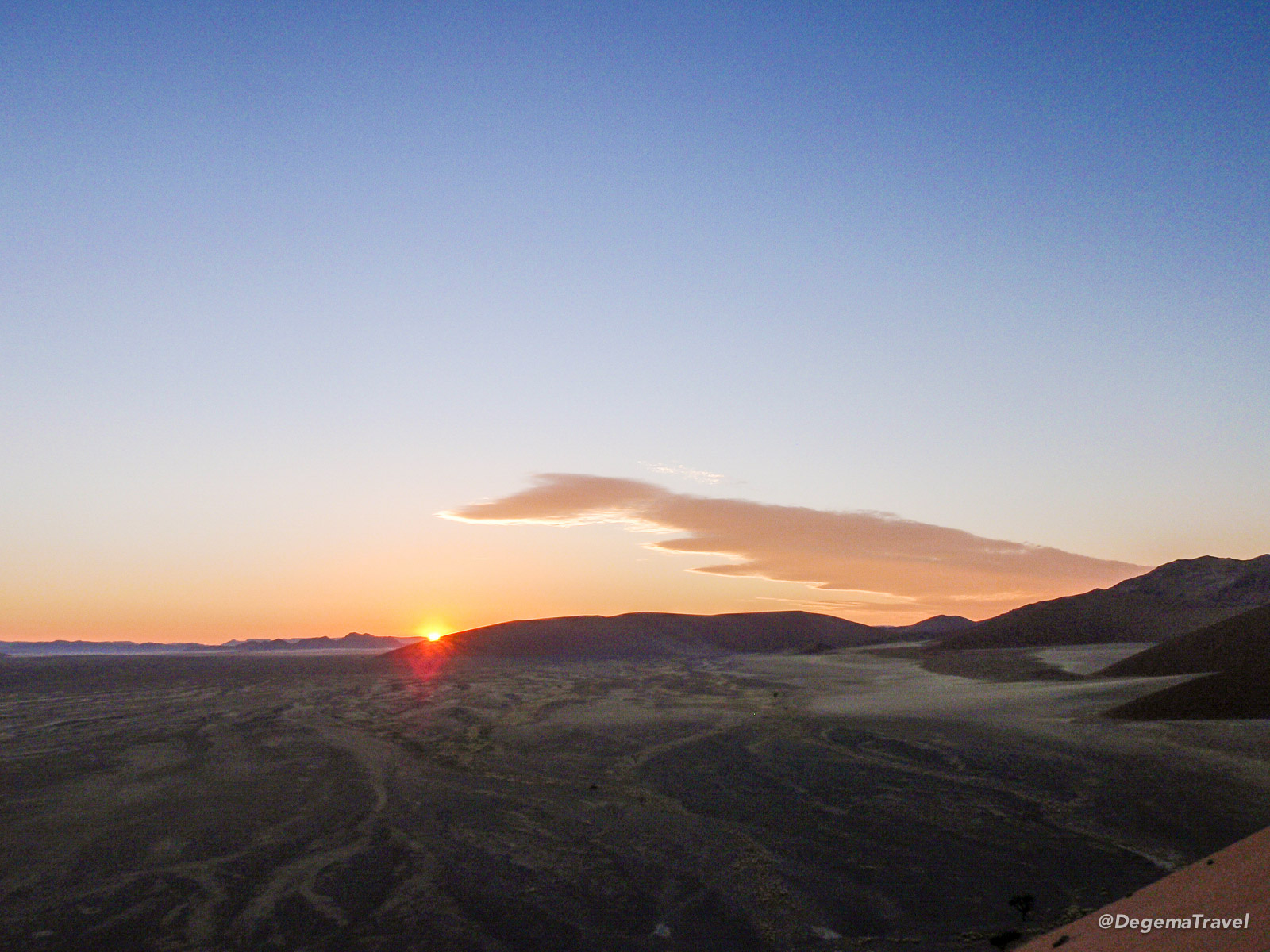 Sunrise from Dune 45 in Namibia