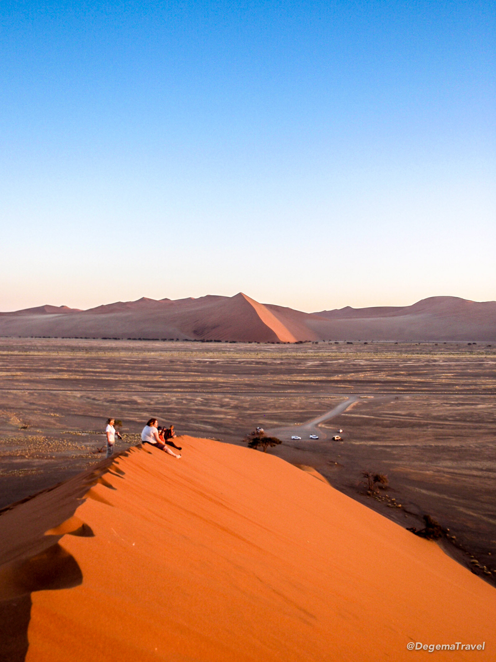 The view from Dune 45 in Namibia