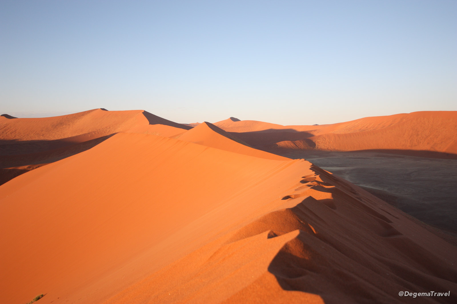 The top of Dune 45 in Namibia