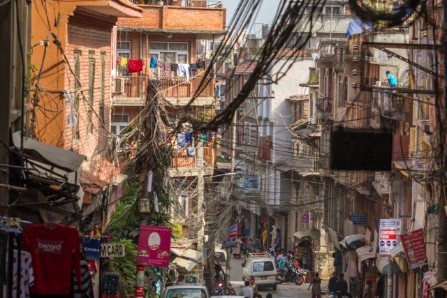 Kathmandu. Dog Man Don't