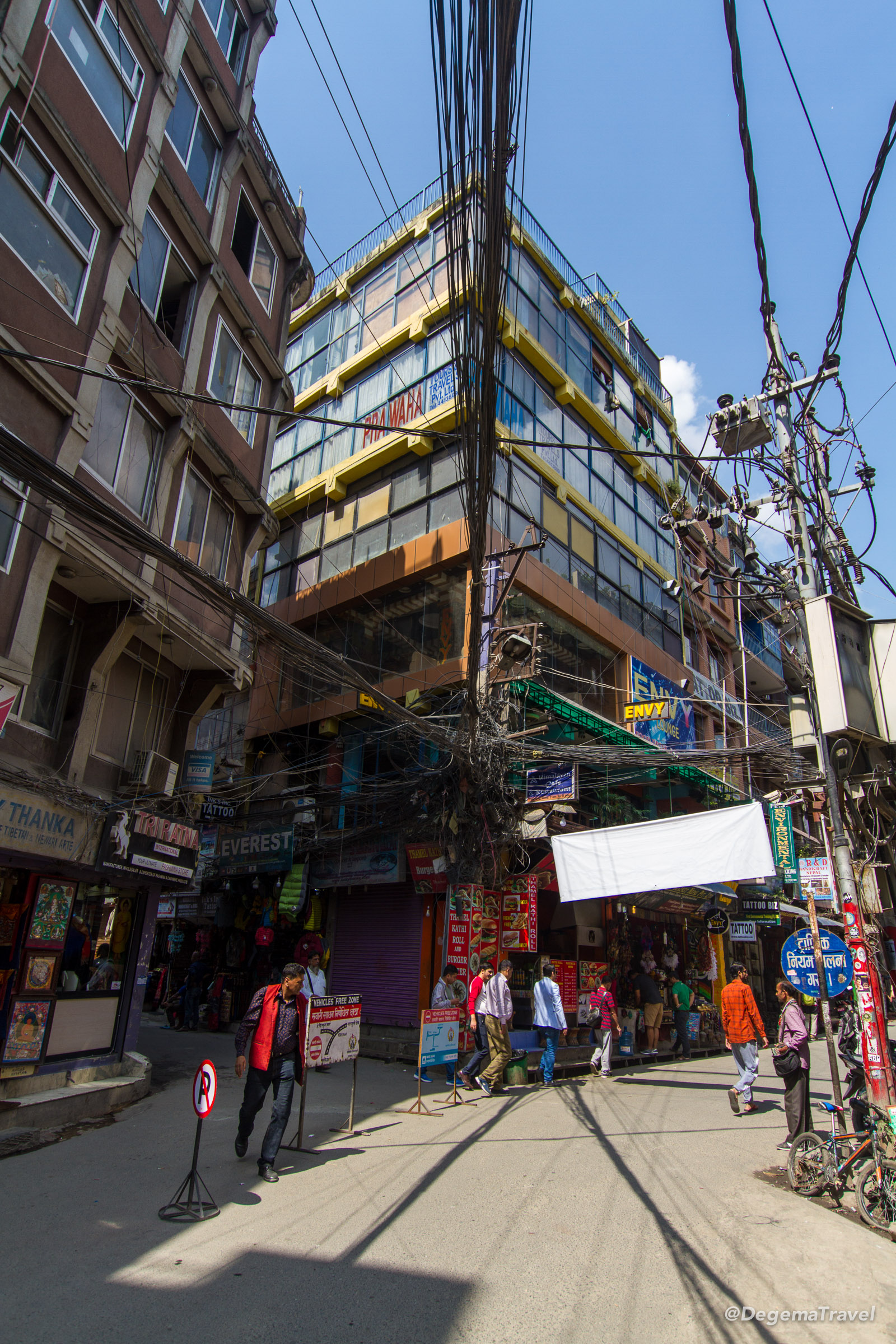 A corner in Thamel, Kathmandu, Nepal