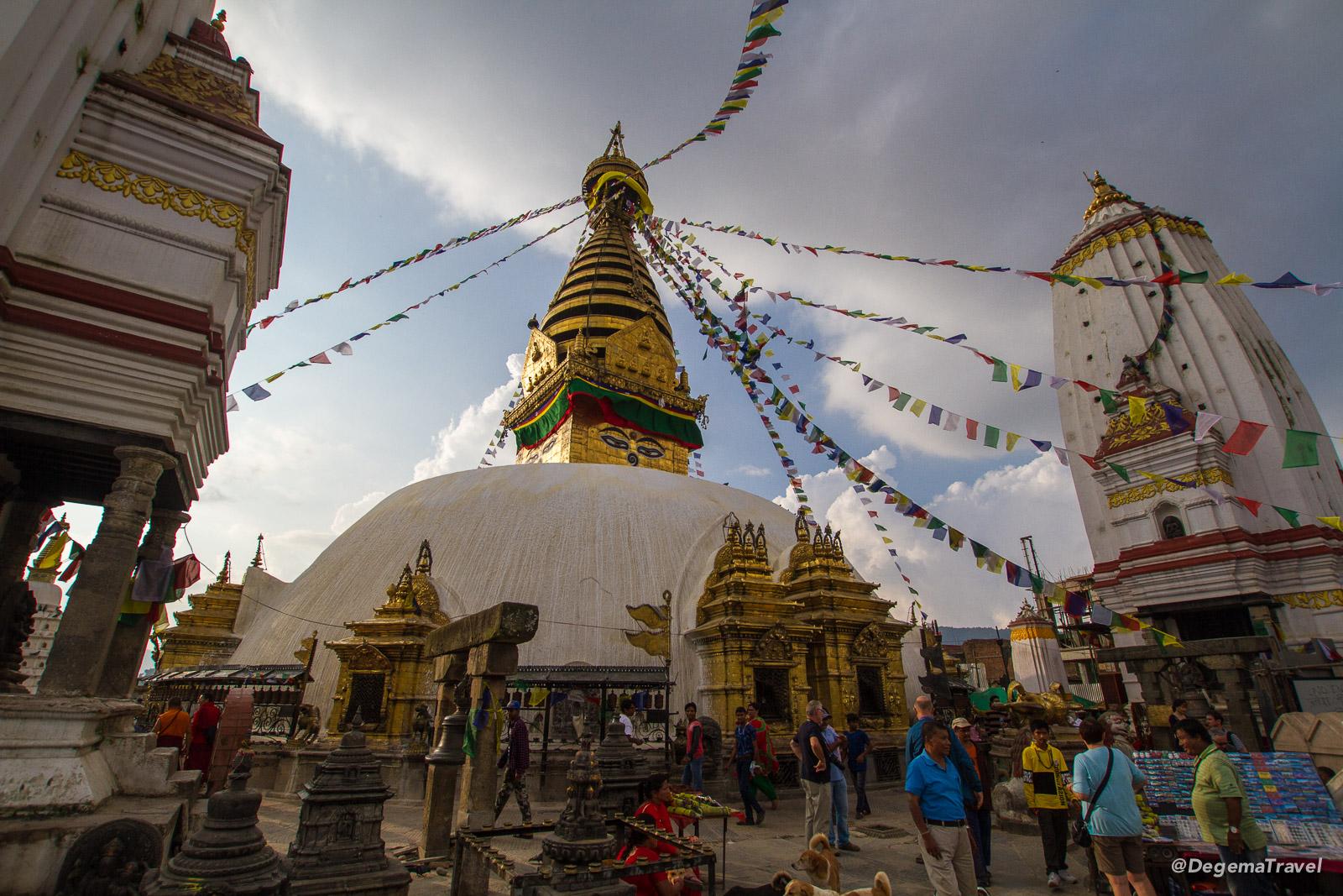Swayambhu Temple in Kathmandu, Nepal