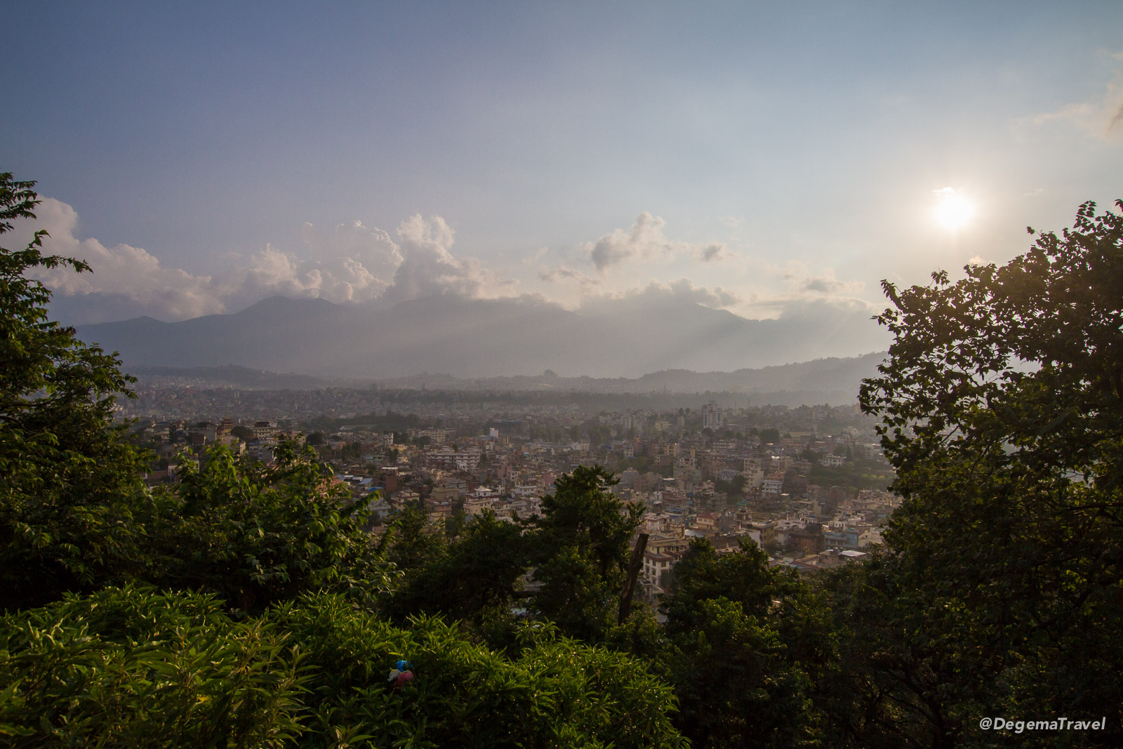 The view from Swayambhu Temple in Kathmandu, Nepal