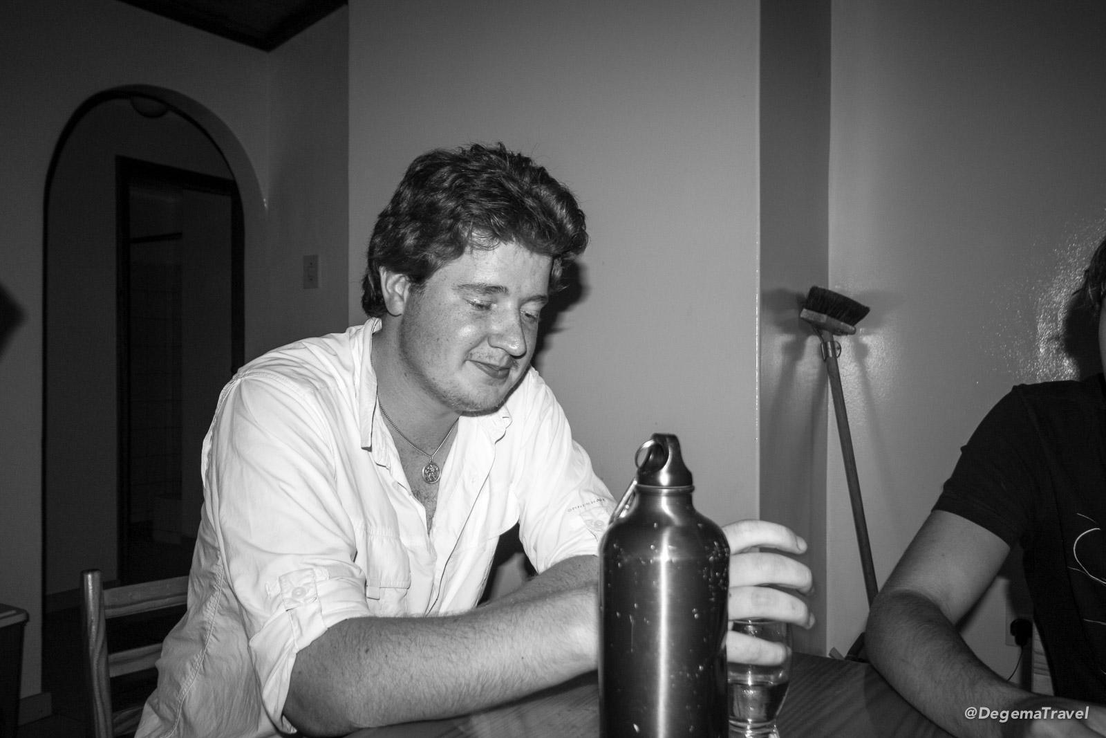 Having a drink at Swakopmund Municipal Restcamp, Namibia