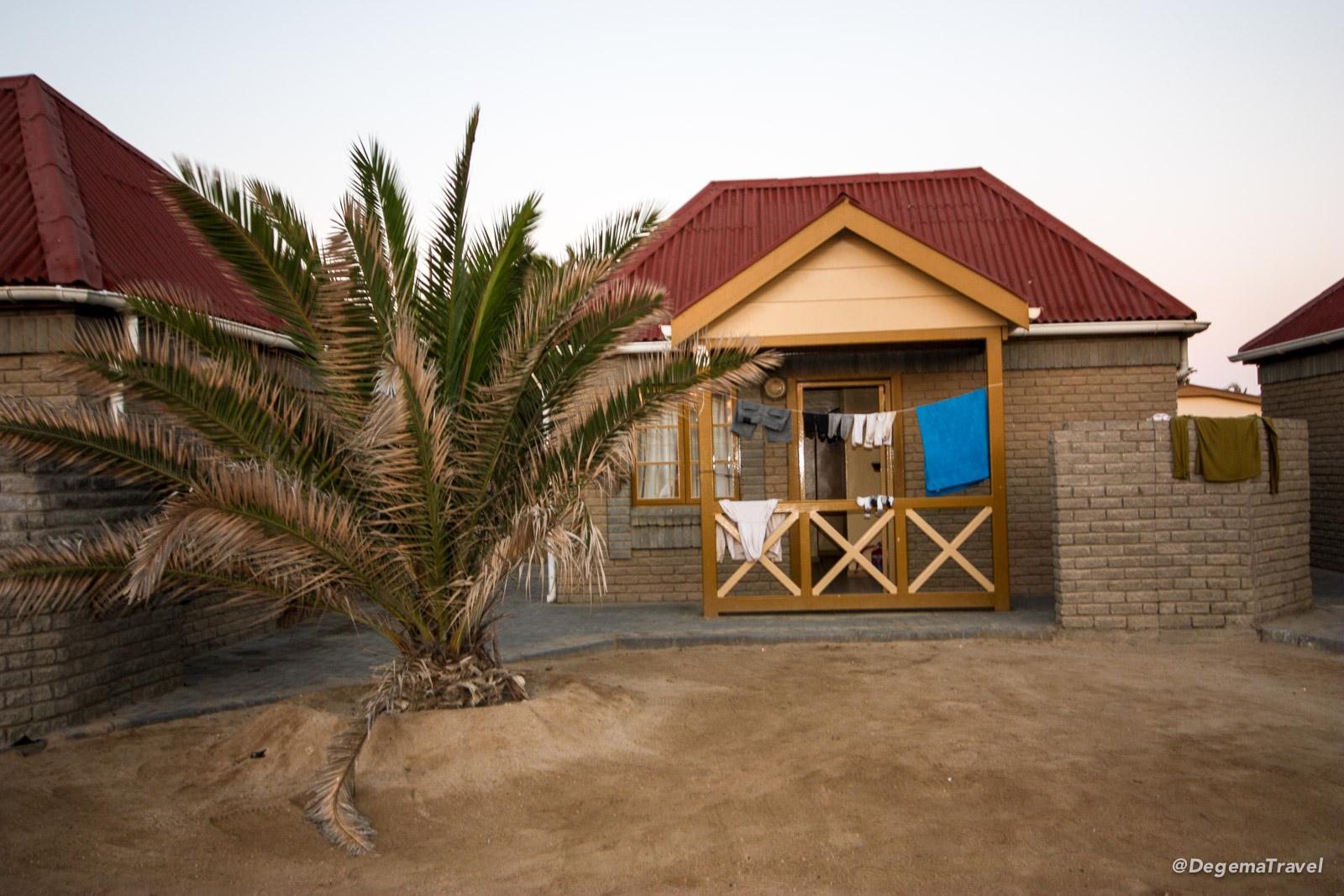 A bungalow in Swakopmund Municipal Restcamp, Namibia
