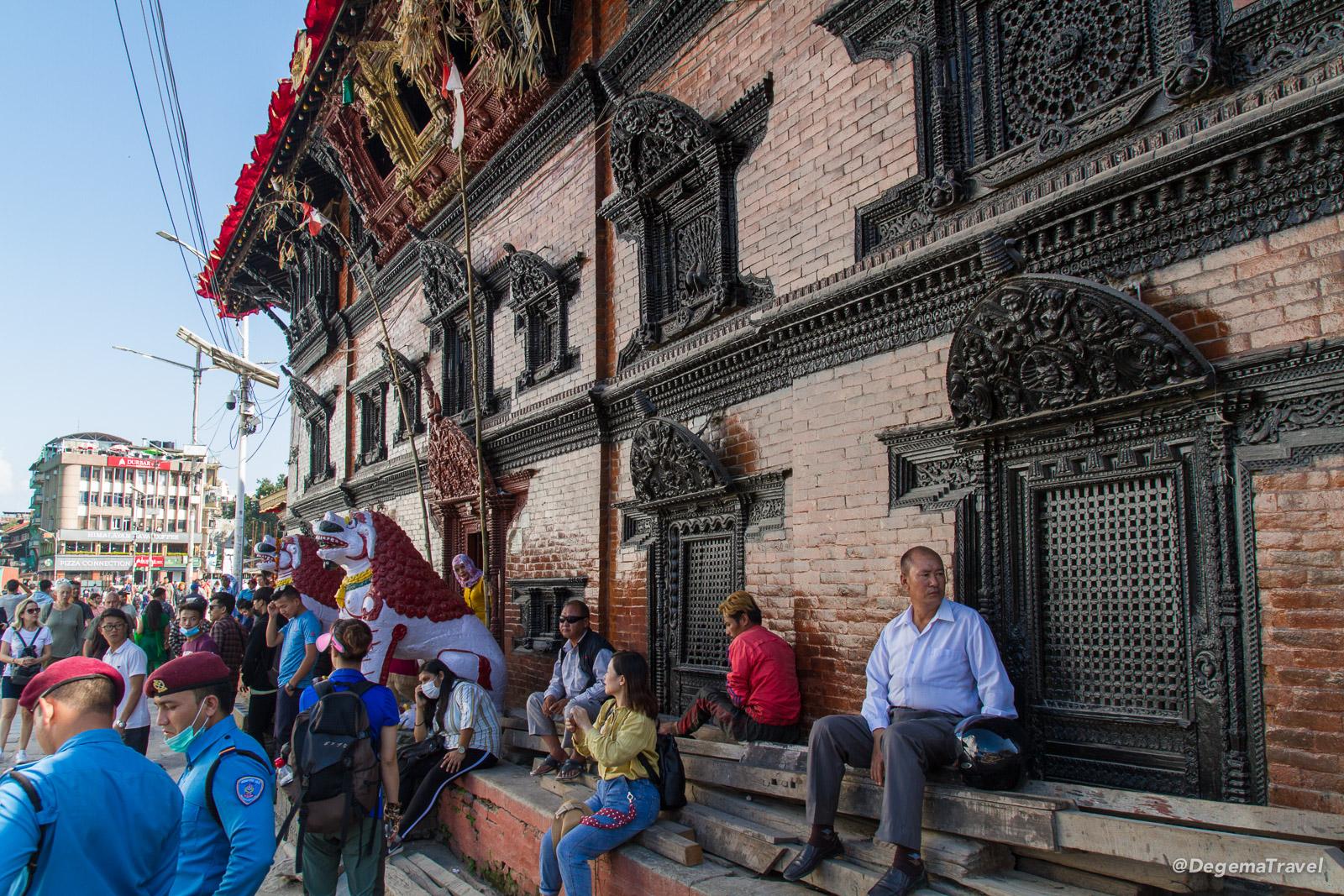 Kumari Ghar in Kathmandu Durbar Square, Nepal