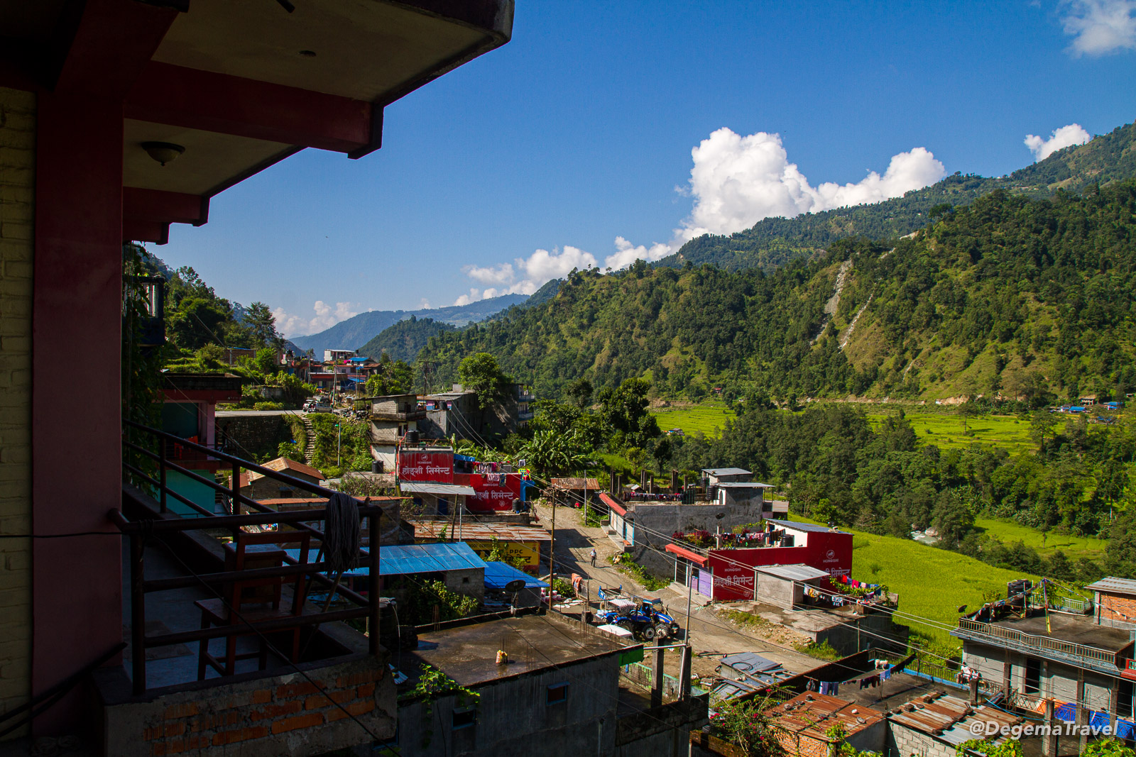Nayapul and the Modi valley in Nepal