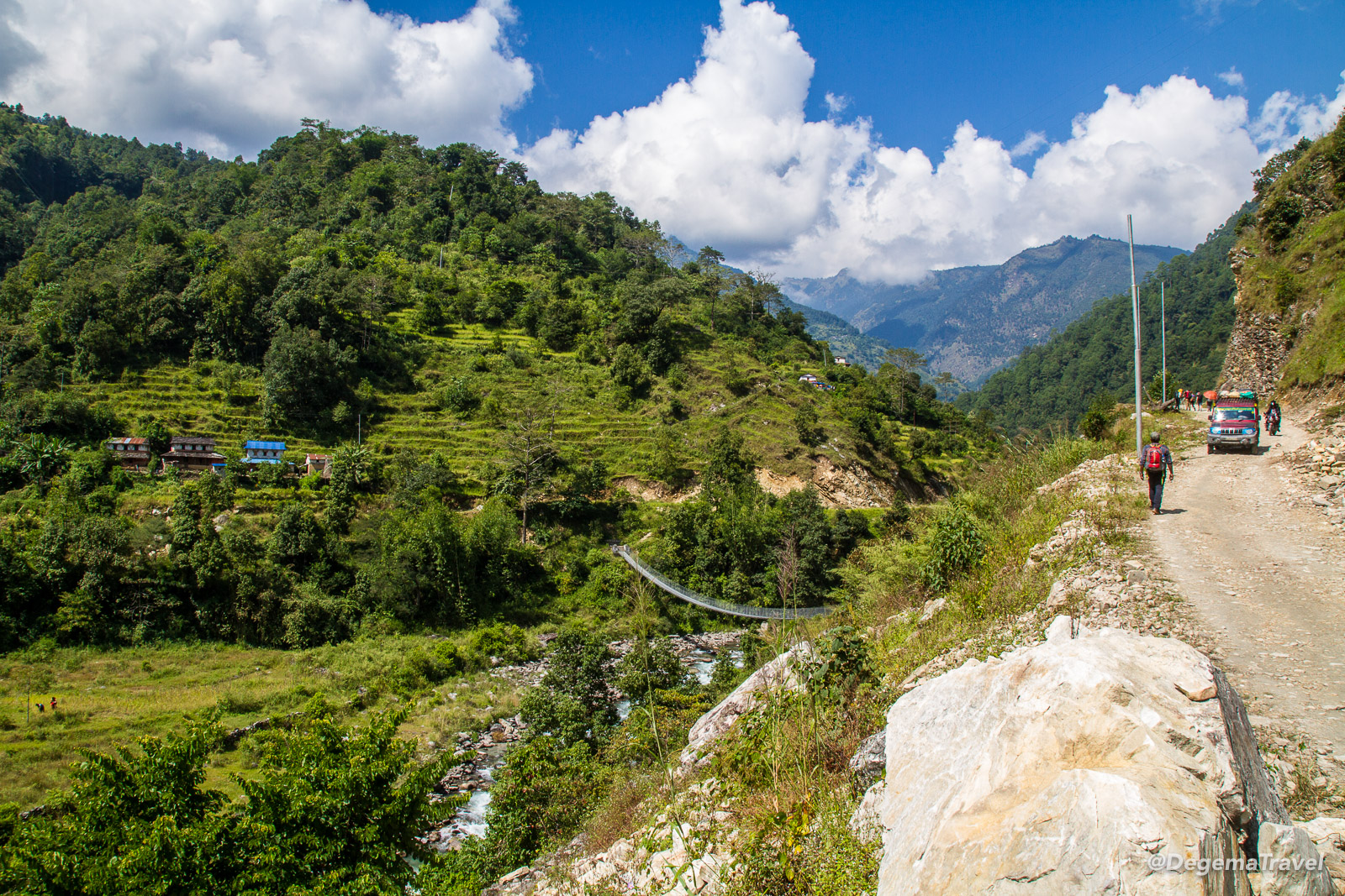 The Bhurungdi valley in the Annapurna Conservation Area, Nepal