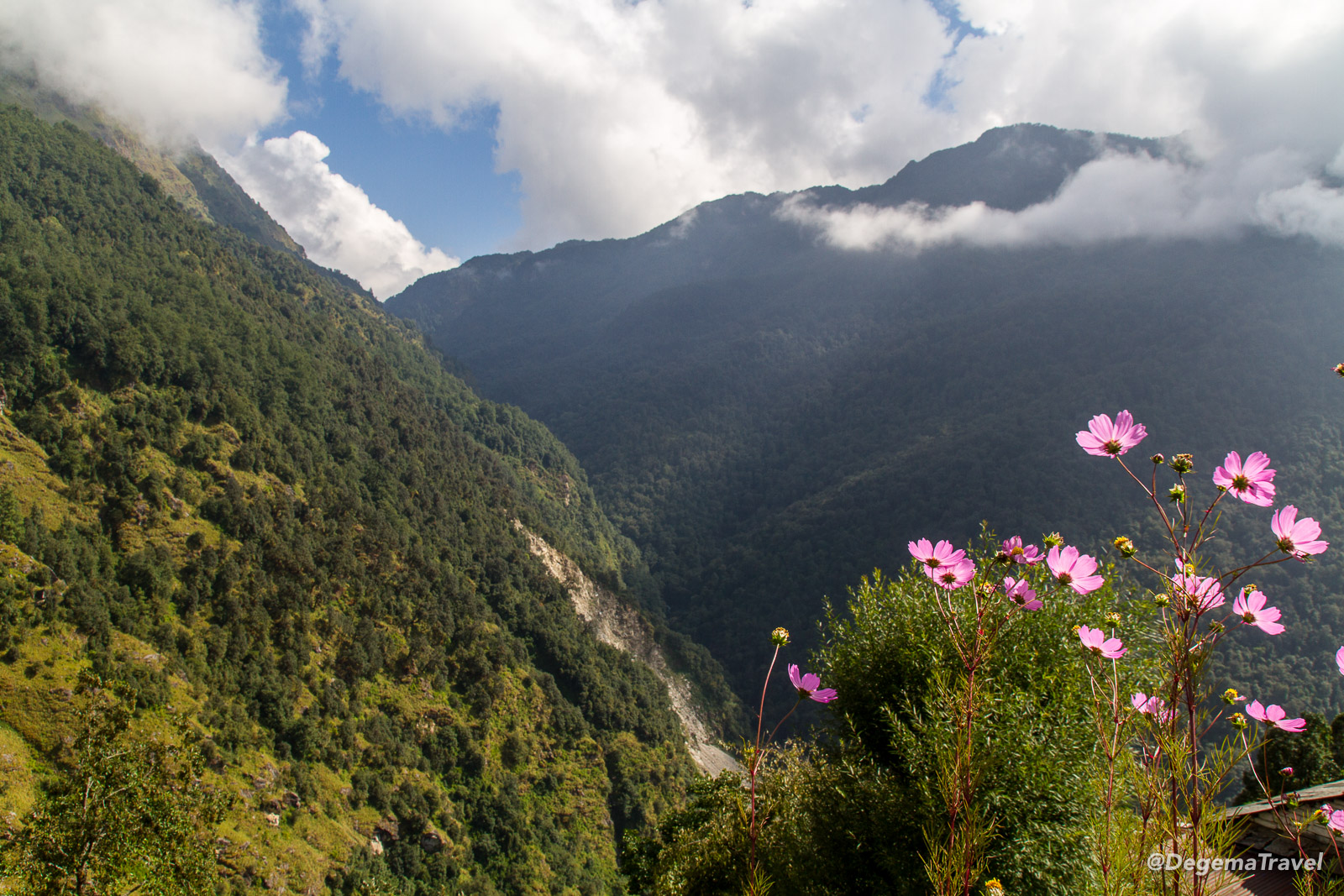 The view from Ulleri in the Annapurna Conservation Area, Nepal