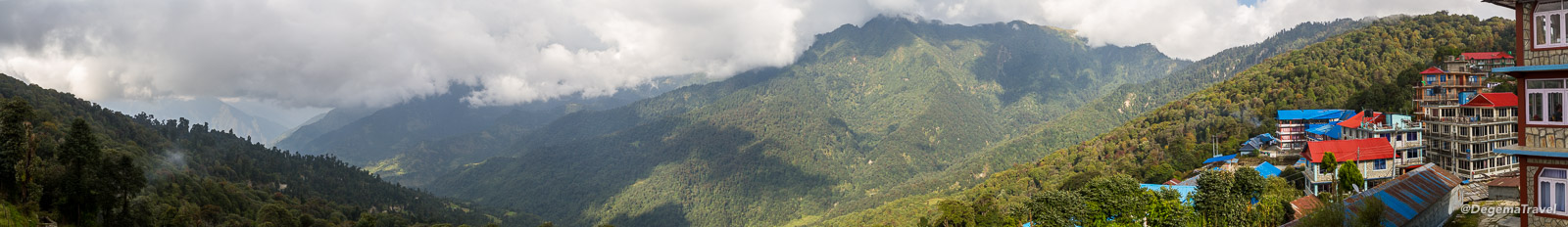 The view from my guesthouse in Ghorepani in the Annapurna Conservation Area, Nepal